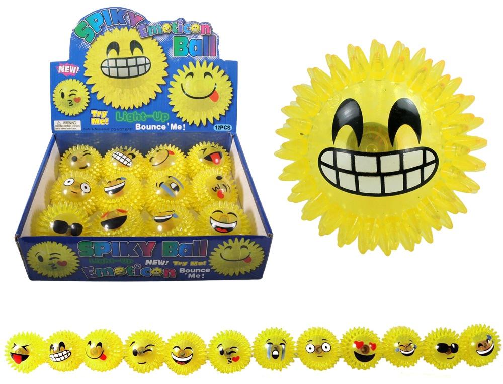 Igelball mit Licht Emoticon ca 7,5 cm