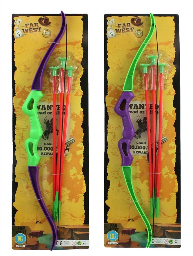 Pfeil- und Bogenset 2-fach sortiert ca 56cm