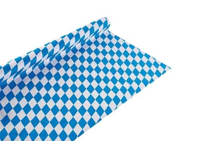 Tischdecke Papier Oktoberfest bayerische Raute - ca 1,2x10m