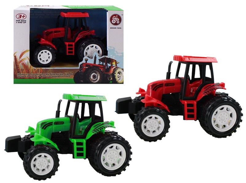 Traktor Farmtraktor mit Friktion -fach sortiert  ca 14,5 cm