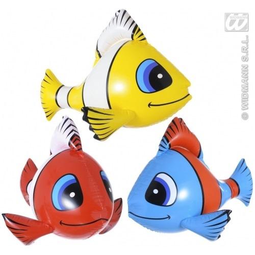 Fisch - aufblasbarer Tropenfisch 3-fach sortiert -  ca 60cm