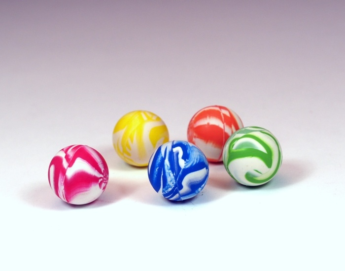 Flummi in Marmoroptik, 5 farbig sortiert ca 25mm