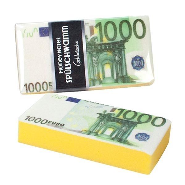 Spülschwamm  MONEY NOTES Geldwäsche ca 15,5 x 8 x 3 cm