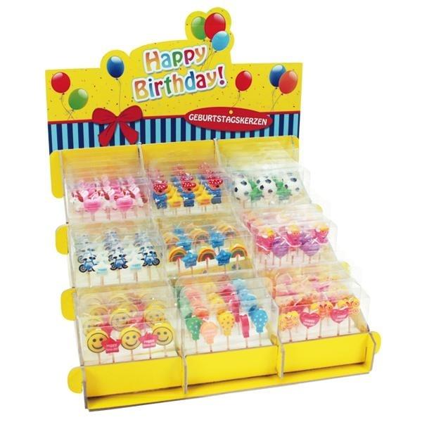 HAPPY BIRTHDAY Geburtstagskerzen Set in Box ca 10x10,5x2,5cm