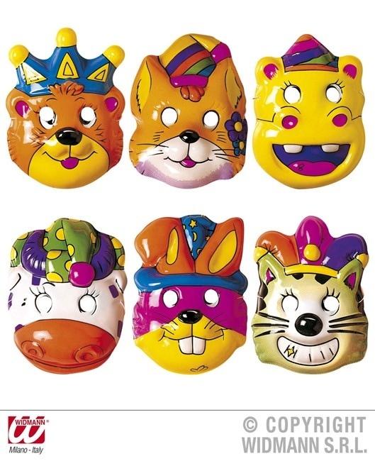 Maske - Kindermaske 6-fach sortiert