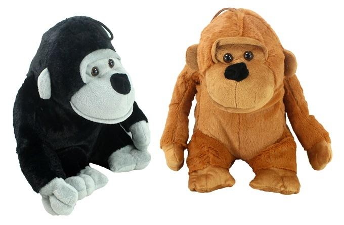 Gorilla sitzend 2-fach sortiert - ca 28cm