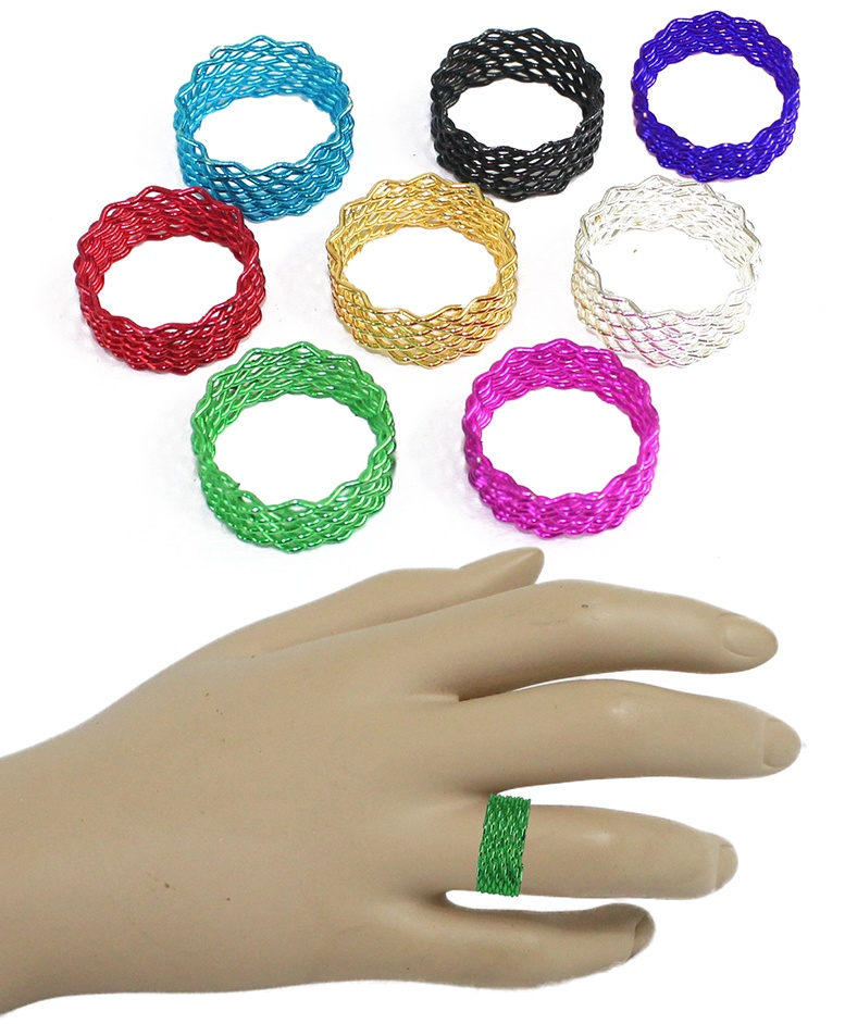 Spiralring 8 farbig sortiert - unterschiedliche Größen