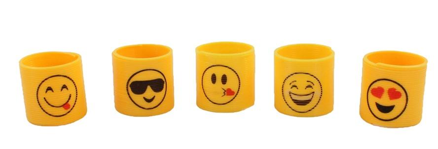 Spirale mit Emoticon sortiert ca 3,5 x 3,5 cm