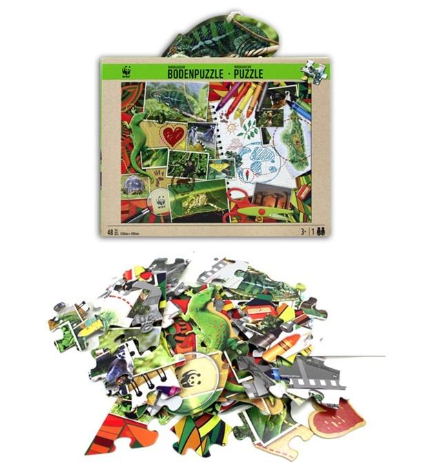 WWF Puzzle 48 Teile in Box ca 25,5x20x7,5 cm