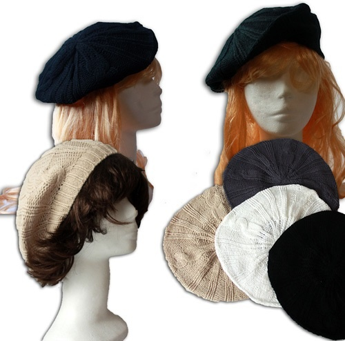 Mütze - Baskenmütze 4-fach sortiert - für Frauen
