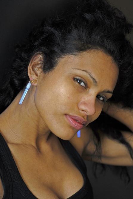 Knicklicht-Ohrringe, blau - ca 5cm