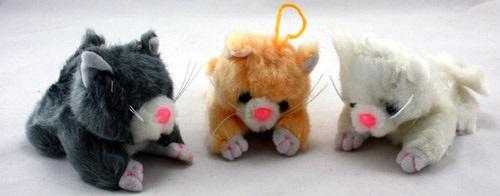 Katze liegend ca 10 cm  - 3 farbig sortiert