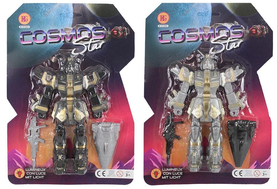 Roboter mit Licht 2-farbig sortiert - ca 19cm