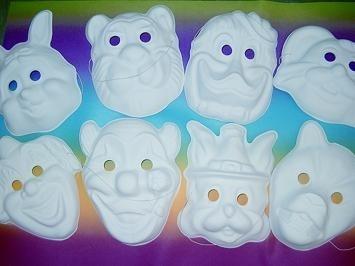 Maske - Karnevals-Maske - weiß -für Kinder und Erwachsene