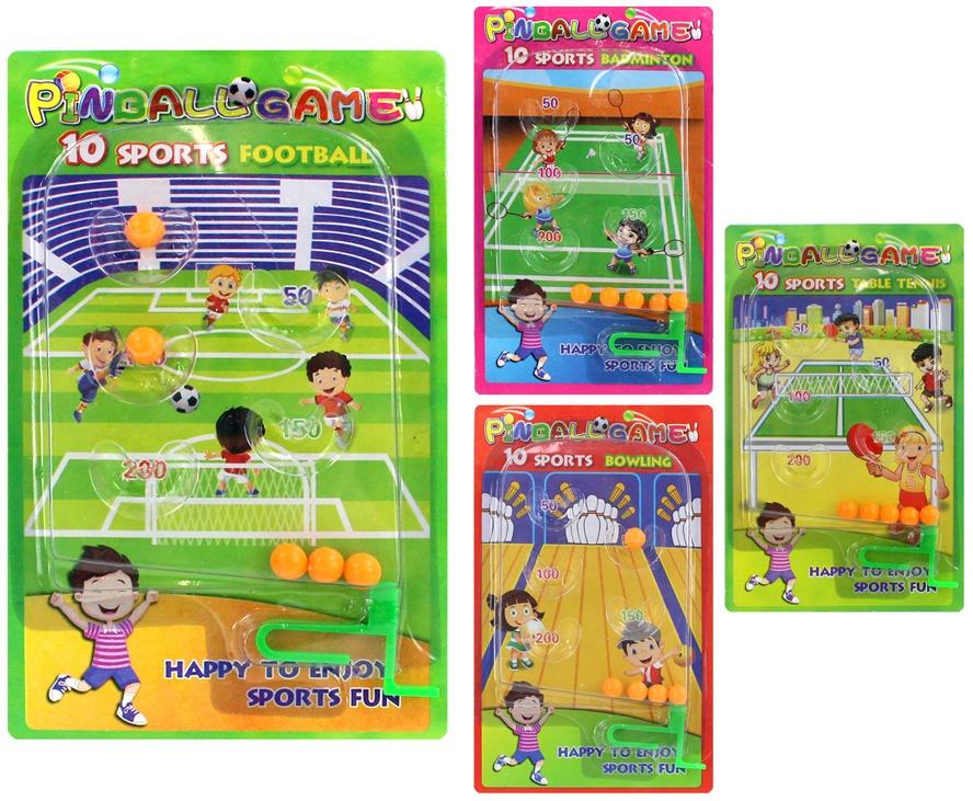 Flipper Sportspiel 4-fach sortiert ca 15,5x9,5cm