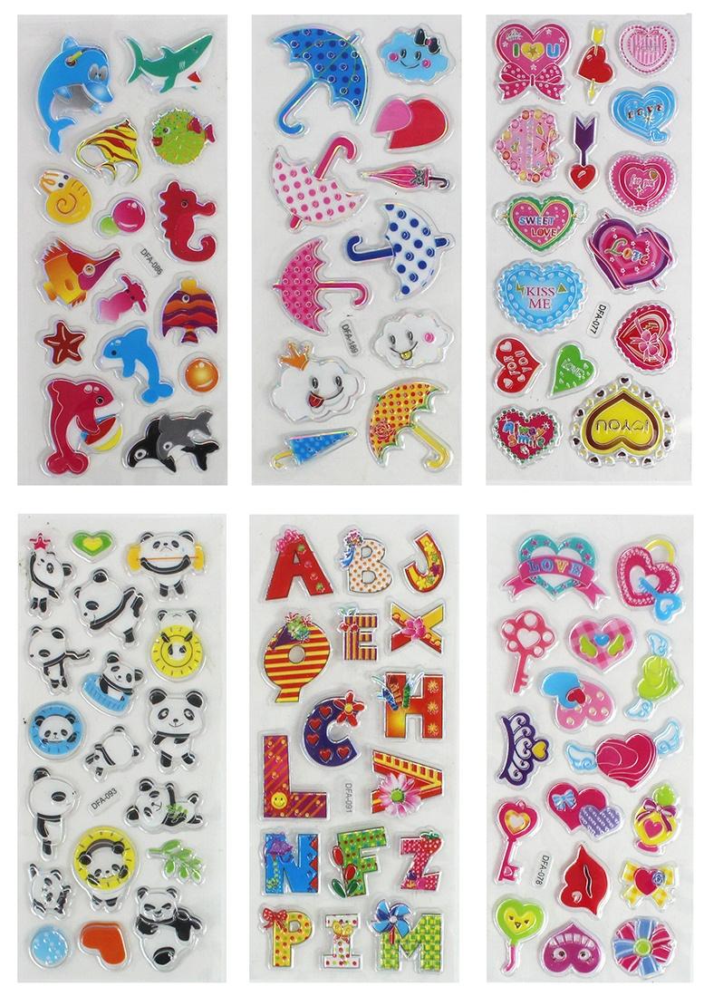 Sticker 12-fach sortiert ca 22x7cm