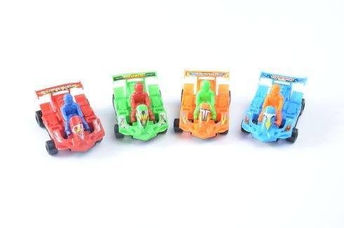 Go-Kart mit Fahrer 4-farbig sortiert im Beutel ca 8 cm