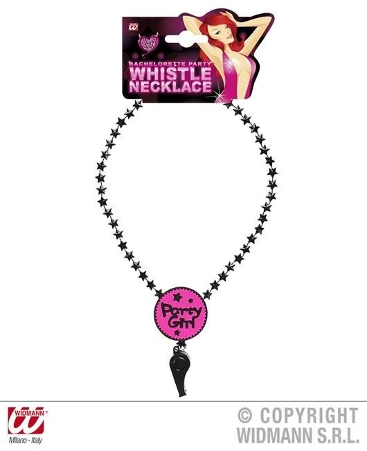Halskette mit Trillerpfeife Partygirl Umfang ca 60