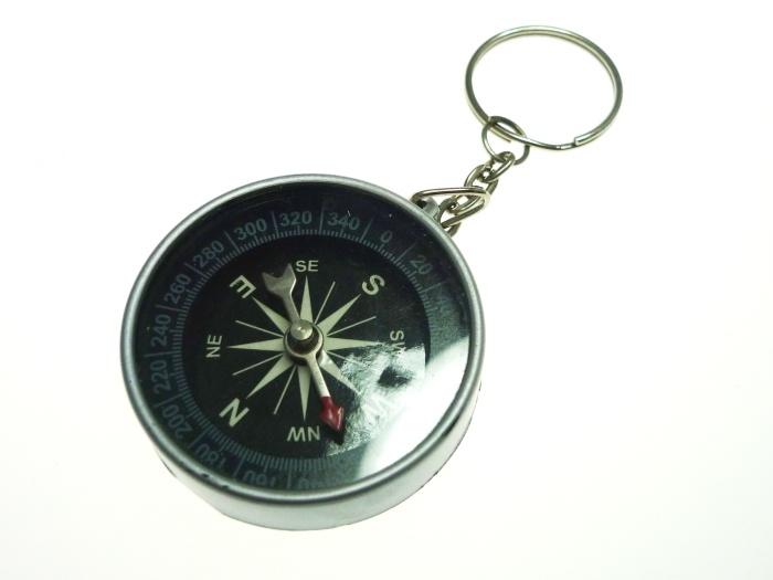 Kompass an Schlüsselanhänge ca  Ø 4 cm