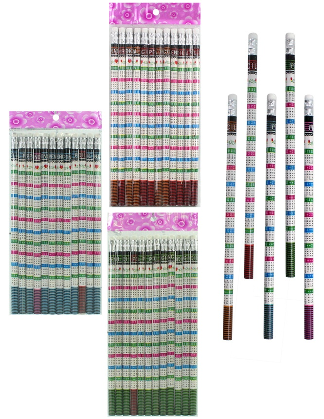 Bleistift Rechenbleistift mit Radiergummi ca 19cm