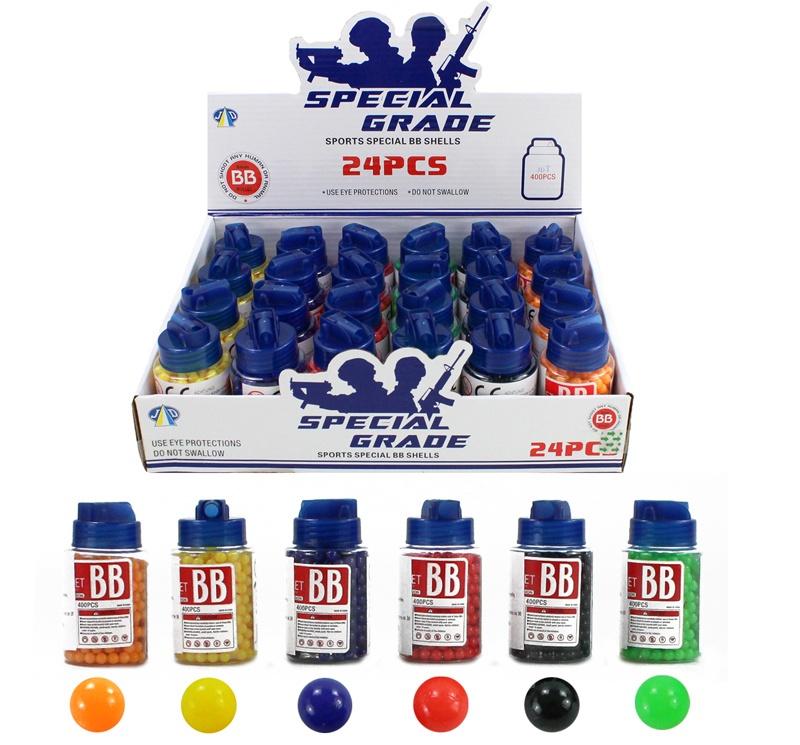 Kugelmunition farbig sortiert 400 Stück in Dose - ca 8x4,5cm