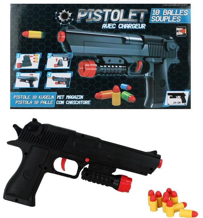 Pistole mit 10 Patronen ca 24 cm