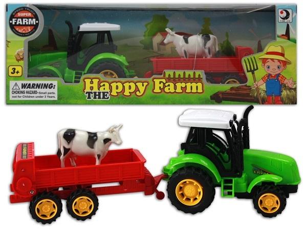 Traktor mit Anhänger ca 28,5cm