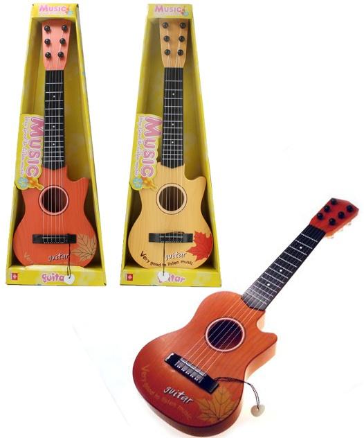 Gitarre 2-fach sortiert mit 6 Saiten in Box ca 55 cm