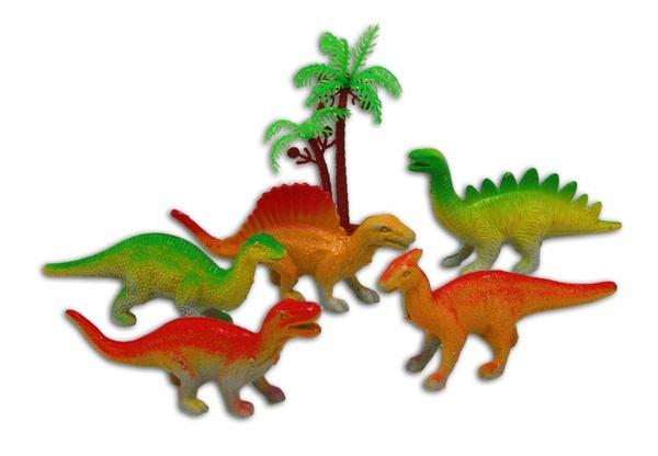 Dinofiguren ca 10 cm - 6 Teile im Beutel ca 18x15cm