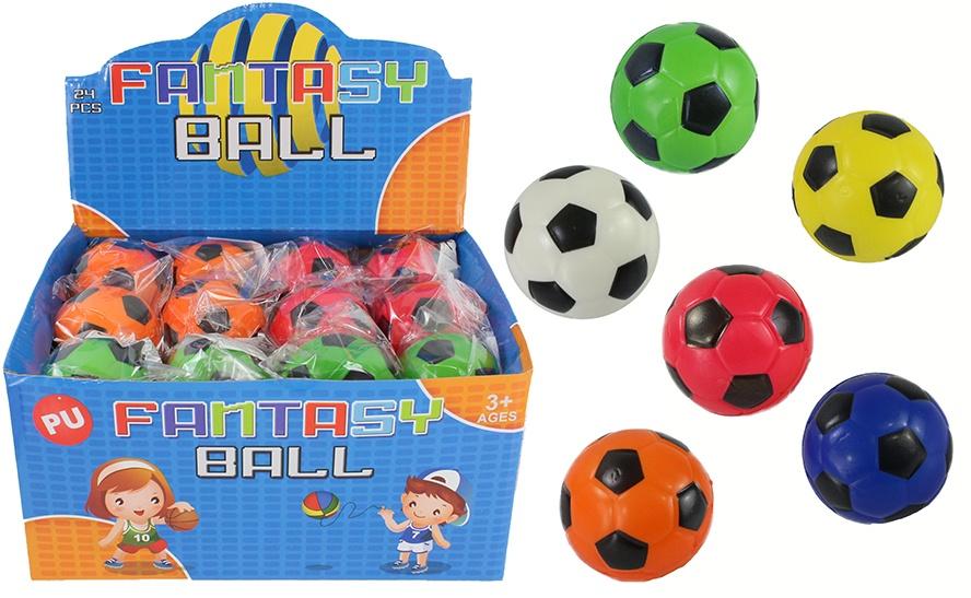 Knautschball Fußball 6-farbig sortiert  Ø ca 63 mm