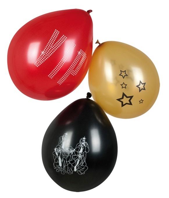 Ballons 6 Stück VIP 3-fach sortiert - ca 25cm