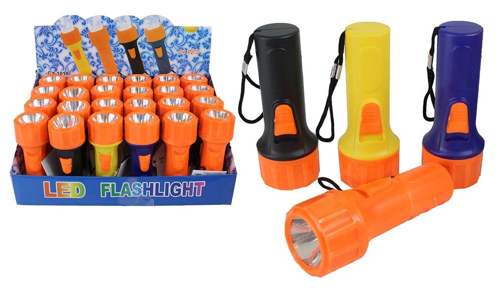 Taschenlampe 4 farbig sortiert - ca 10,5 cm