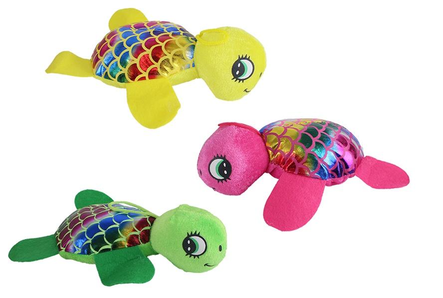 Schildkröte Glitzer 3-farbig sortiert ca 22 cm