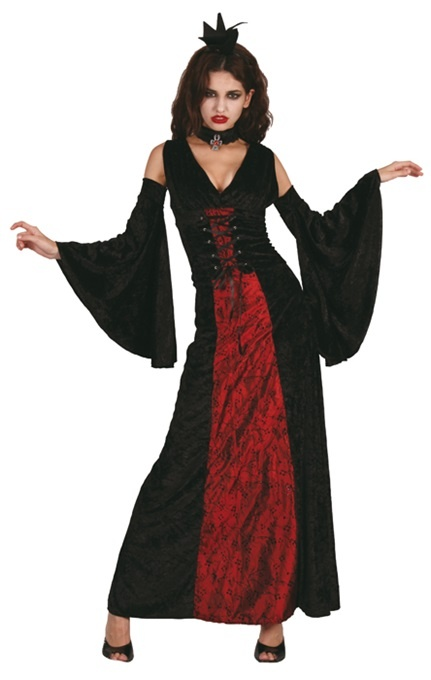 Kostüm - Vampirin Vamp fatale Größe 36/38