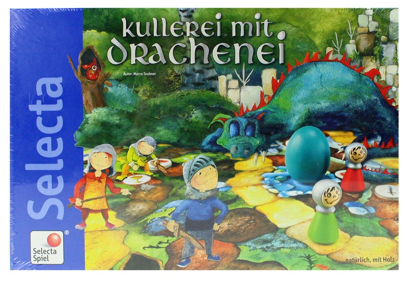Selecta Kullerei mit Drachenei Spiel - ca 34x23x4,5cm
