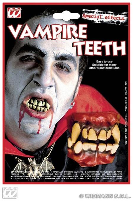 Zähne - Deluxe Vampir auf Karte ca 22x15,5 cm