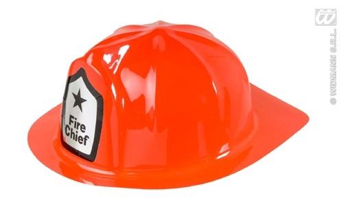 Feuerwehrhelm rot - Einheitsgröße