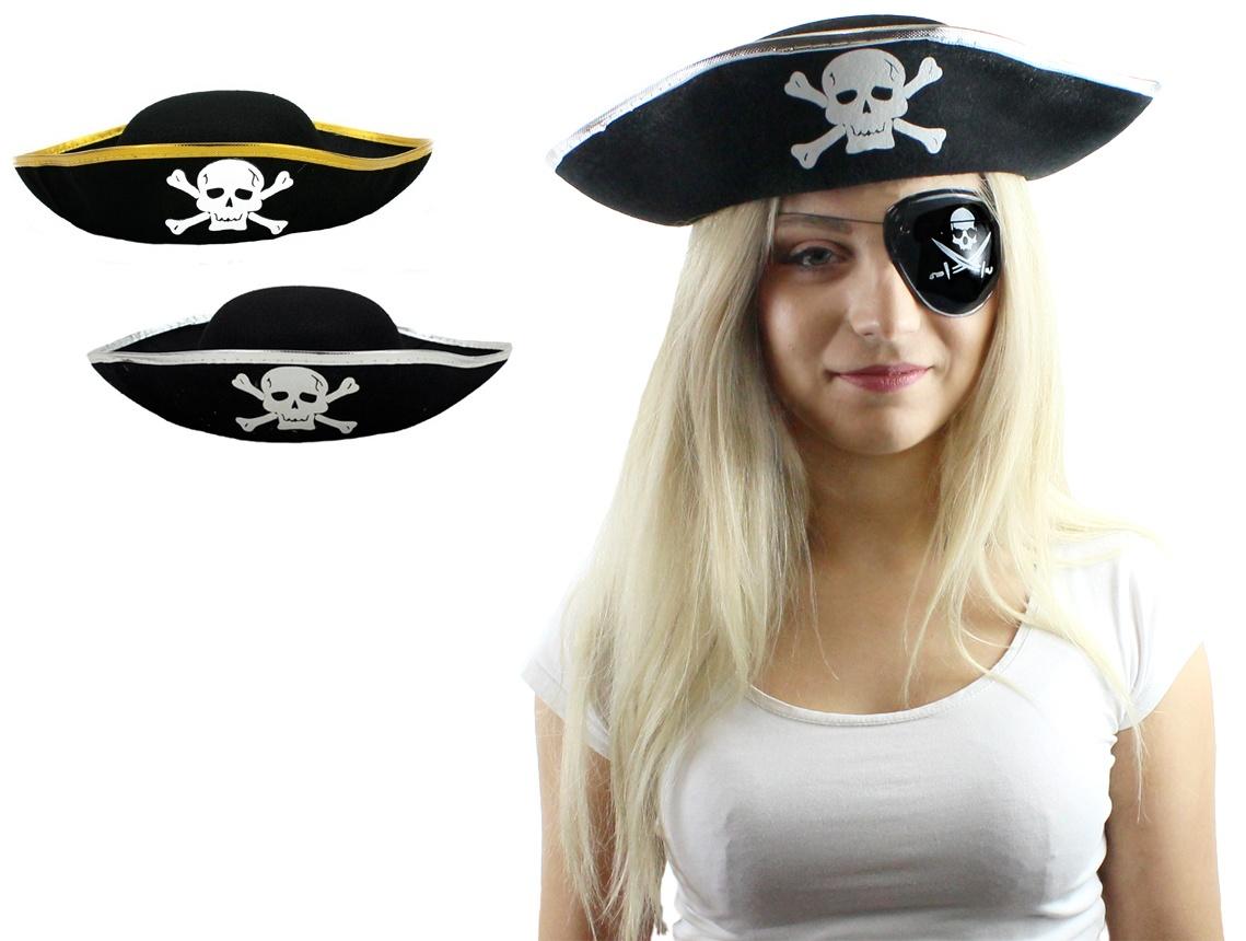 Piratenhut für Erwachsene 2-fach sortiert