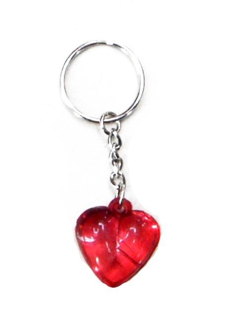Herz rot an Schlüsselanhänger ca 25mm