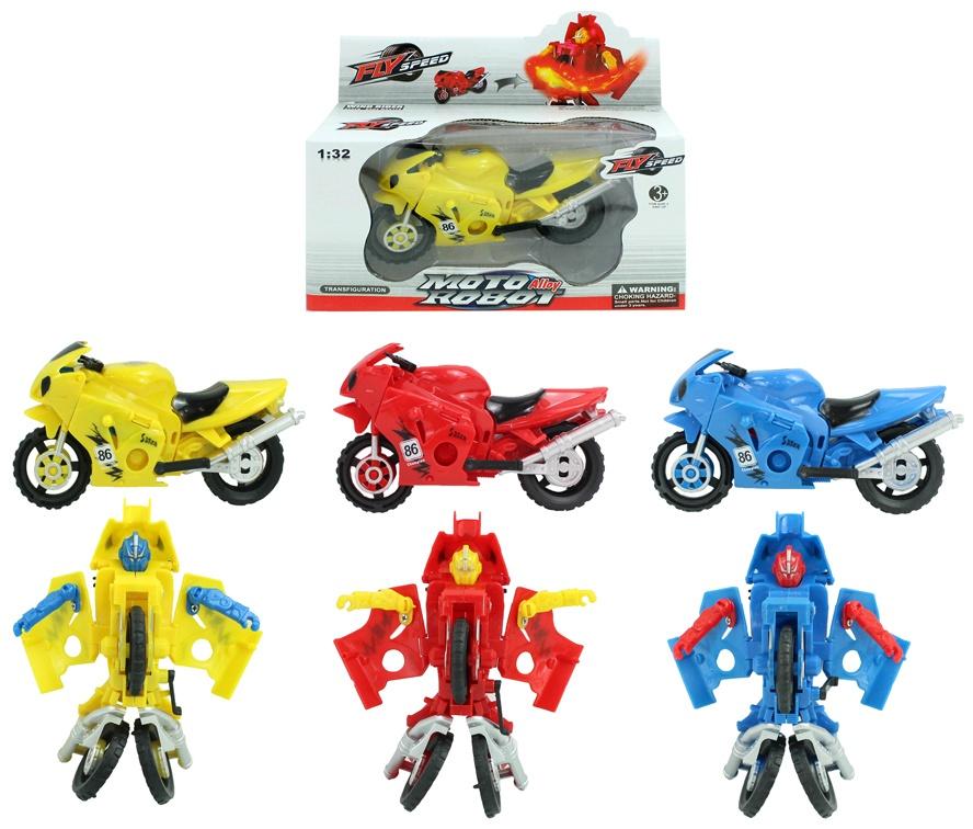 Roboter 3-fach sortiert umbaubar in Motorrad ca 13x7 cm
