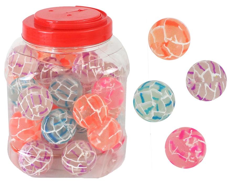Flummi Dopsball marmoriert 4-fach sortiert - ca Ø 38 mm