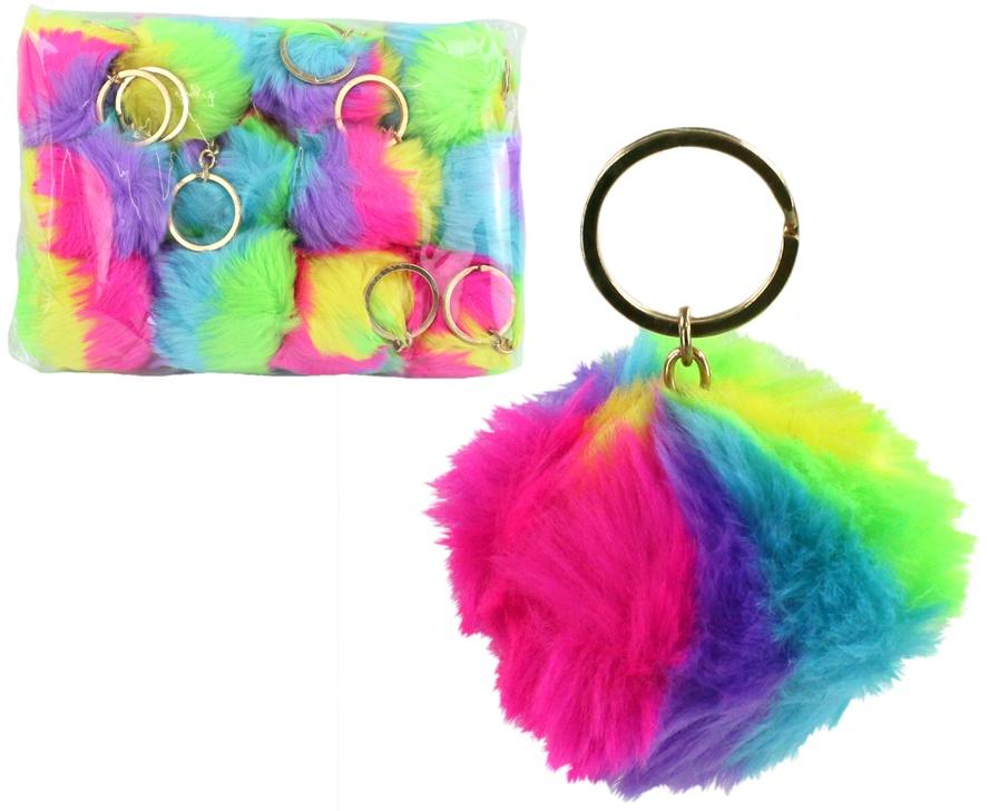 Ball Plüsch Handtaschenball an Schlüsselanhänger ca 70 mm