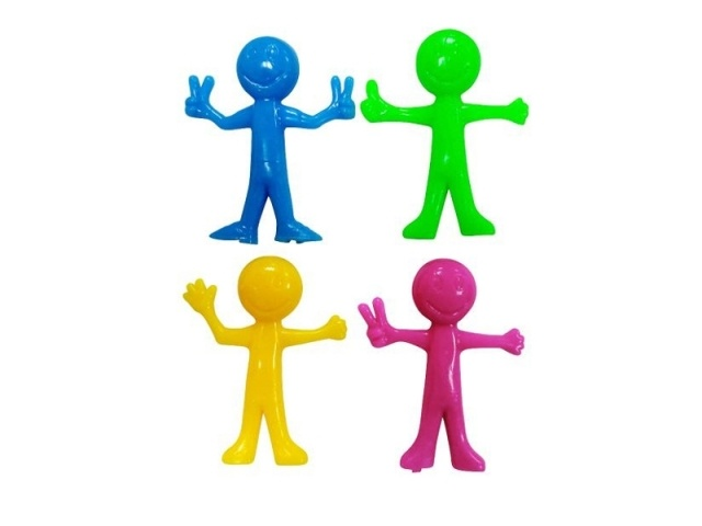 Stretchy Figur SMILING FACES NeonFarben ca 75 mm