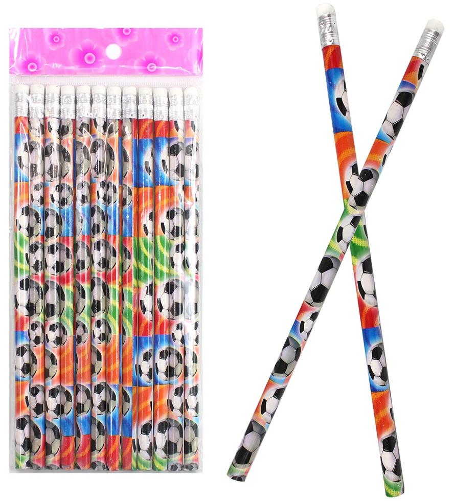 Bleistift Fußball mit Radiergummi ca 19cm