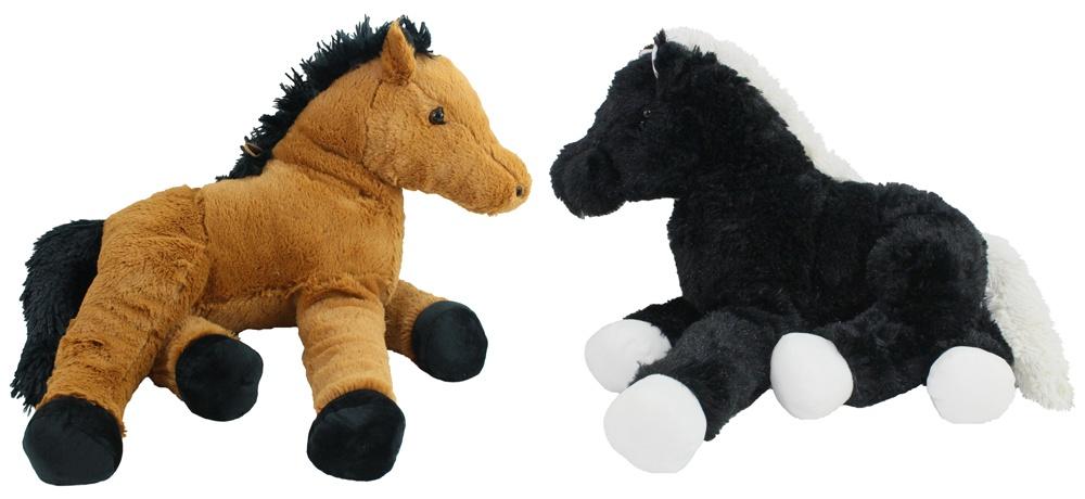 Pferd liegend braun und schwarz sortiert ca 48cm