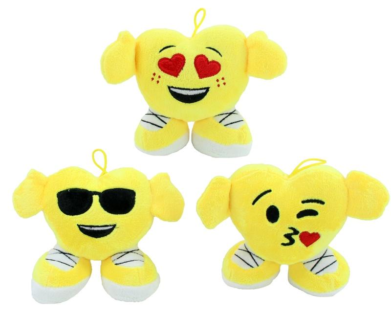 Smilefigur Emoticon 3-fach sortiert ca 15 cm