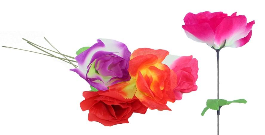 Seidenrose Rose offen 4 Farben sortiert ca 45 cm