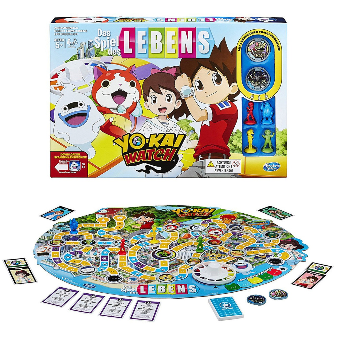 HASBRO Spiel des LebensYO-KAI WATCH -in Box ca 40x27x5,5cm