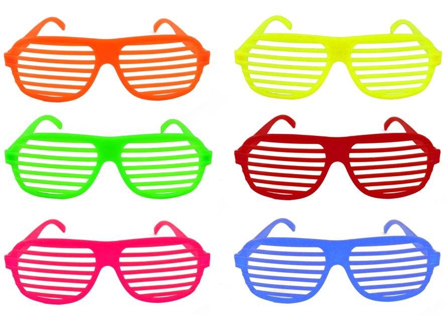 Brille  Atzenbrille Plastik 6 Farben sortiert ca 16 cm