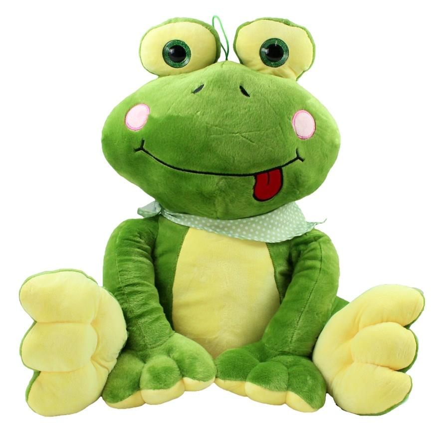Frosch mit Halstuch sitzend ca 52 cm